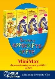MiniMax Barnesondenæring og næringsdrikker for ... - nestle nutrition