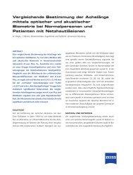 Vergleichende Bestimmung der Achslänge mittels optischer und ...