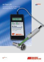 Teslameter M-Test LR - Maurer Magnetic AG
