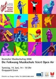 Flyer - Folkwang Musikschule - Essen