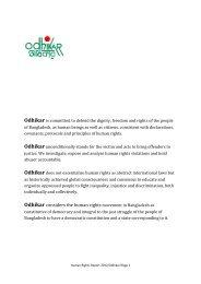Human Rights Report 2012 - Odhikar
