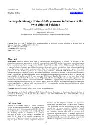 Seroepidemiology of Bordetella pertussis infections in the twin cities ...