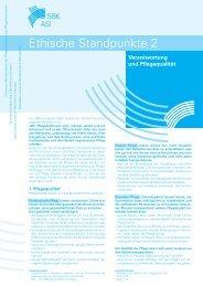Ethische Standpunkte 2 - Schweizer Berufsverband der ...