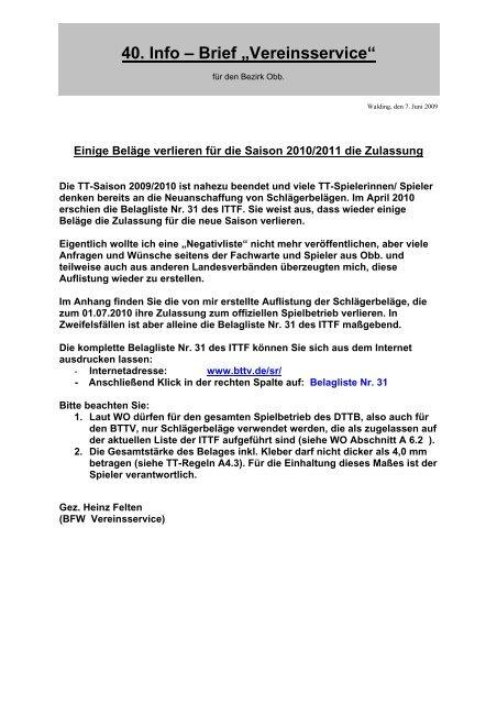 40-Infobrief - BTTV - Bezirk Oberbayern