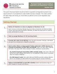 Municipal Health Insurance Reform Legislation and Regulations ...