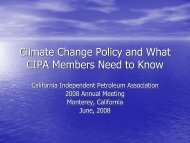 Climate Change Policy and What CIPA Members Need to Know
