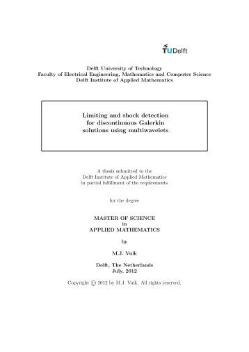 Thesis submitted for the degree of master
