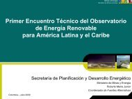 Fuente - Observatory for Renewable Energy in Latin America and