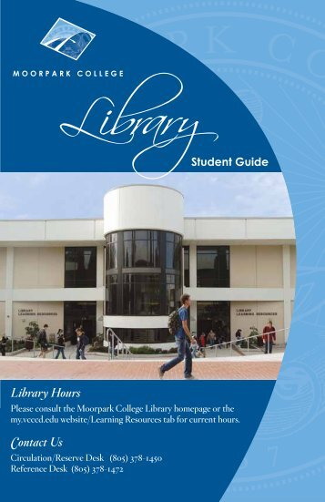 Library Hours Contact Us - Moorpark College