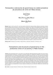 Transações e estruturas de governança na cadeia produtiva da ...