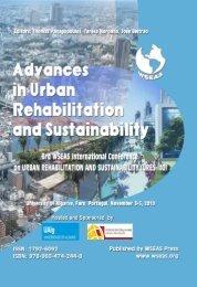 ADVANCES in URBAN REHABILITATION and ... - Wseas.us
