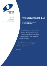 IPE Awards Entry Form 2009 - IPE Institutional Investment