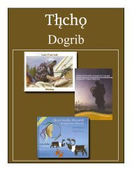 Tlicho Bibliography - South Slave Divisional Education Council