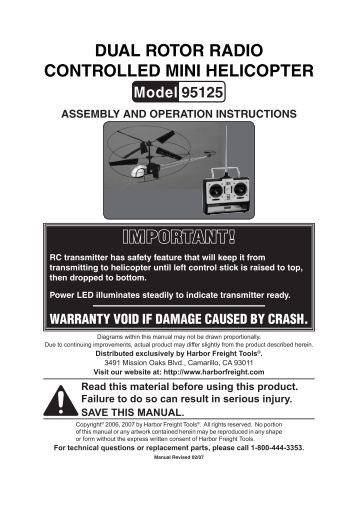 dual-rotor-radio-controlled-mini-helicopter-harbor-freight-tools Harbor Freight Mini Mill Wiring Diagram on