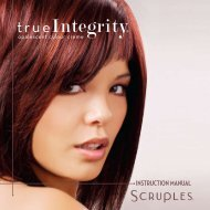 InStRUCtIOn MAnUAL - Scruples Hair Care Products