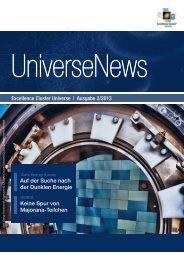Excellence Cluster Universe   Ausgabe 2/2013 Auf der Suche nach ...
