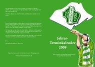 Jahres- Terminkalender 2009 - Sportfreunde 1930 Uevekoven eV