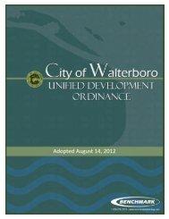 Unified Development Ordinance - City of Walterboro