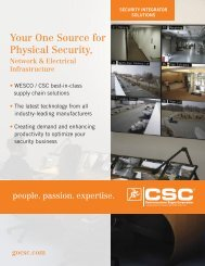 Your One Source for Physical Security, - Communications Supply ...