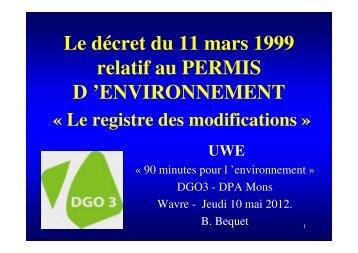 Le registre des modifications - Environnement-Entreprise