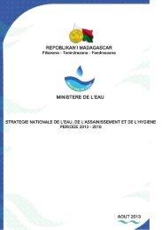 Strategie Nationale de l'Eau, de l ... - Ministère de l'Eau
