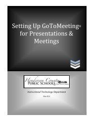 GoToMeeting - Henderson County Public Schools