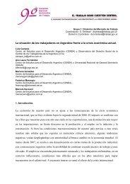 La situación de los trabajadores en Argentina frente a la ... - ASET