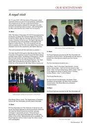 A royal visit - Oswestry School