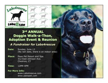 3rd ANNUAL Doggie Walk-a-Thon, Adoption Event ... - Labs4Rescue