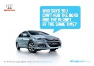 WHO SAYS YOU CAN'T HUG THE ROAD AND ... - Honda Malaysia