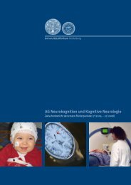 AG Neurokognition und Kognitive Neurologie - UniversitätsKlinikum ...
