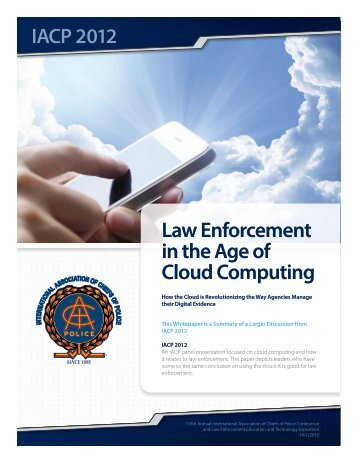 IACP Cloud Panel Research Paper - Summary - TASER International