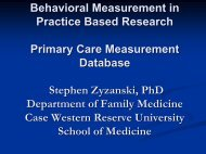 Behavioral Measurement in Practice Based Research ... - Blog@Case