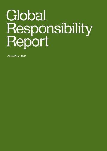 Stora Enso Global Responsibility Report 2012 - GlobeNewswire