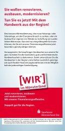 Mit dem Handwerk aus der Region! - Kreishandwerkerschaft Münster