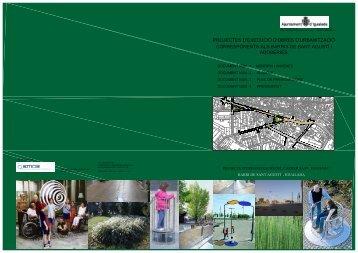 Projecte urbanització del carrer Sant Domènec - Igualada