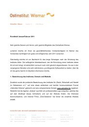 Rundbrief Januar/Februar 2011 Sehr geehrte ... - Ostinstitut Wismar