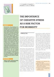 the importance of oxidative stress as a risk factor for morbidity
