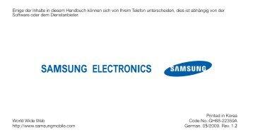 Samsung-S7350-Bedienungsanleitung.pdf ... - Fonmarkt.de