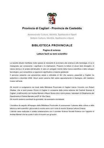 Pagine di scienza - Biblioteca Provinciale di Cagliari