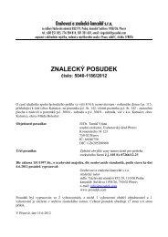 ZNALECKÝ POSUDEK číslo: 5040-1186/2012 - OKdrazby.cz