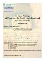 16° Corso Avanzato di Chirurgia della Tiroide e ... - S.I.O.e.Ch.CF.
