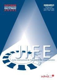 Presentación Informe anual 2002 de la Junta Internacional