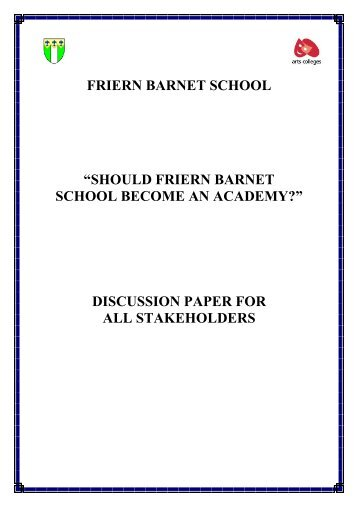 should friern barnet school become an academy?