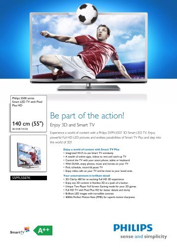 55PFL5507K/12 Philips Smart LED TV with Pixel Plus HD - ACME