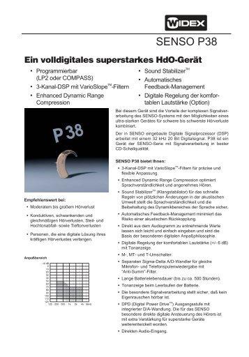 SENSO P38 SENSO - Widex