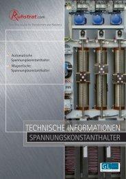 Technische Informationen Spannungskonstanthalter - Ruhstrat GmbH