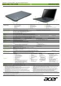 Acer Aspire 5349 / 5749 / 5749Z Product Sheet - ACME - Page 2