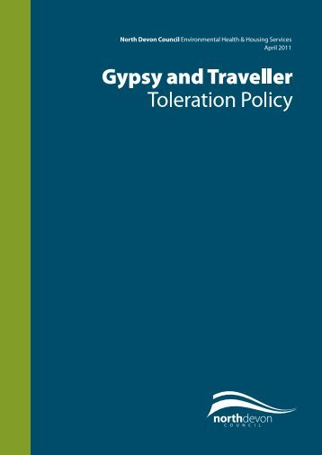 Gypsy and Traveller Toleration Policy - North Devon District Council