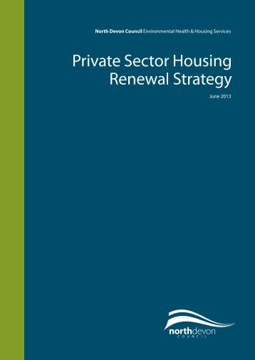 Private Sector Housing Renewal Strategy - North Devon District ...